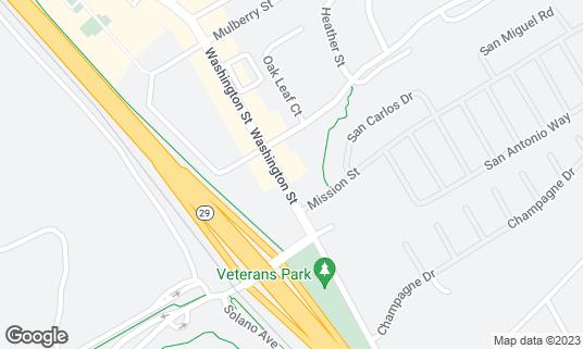 Map of Ad Hoc + Addendum at 6476 Washington St Yountville, CA
