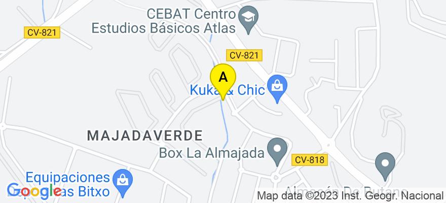 situacion en el mapa de . Direccion: Calle Aries, 11, 03110 Mutxamel. Alicante