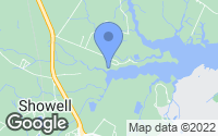 Map of Bishopville, MD