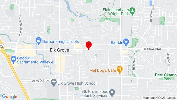Google Map of 9080 Elk Grove Blvd., Elk Grove, CA 95624