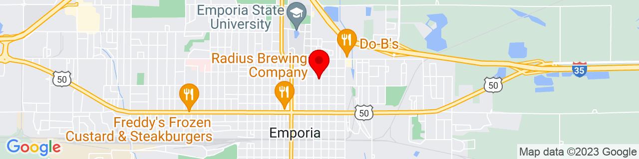 Google Map of 38.409492, -96.17541