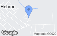 Map of Hebron, MD