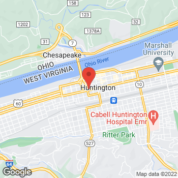 Map of Rally's at 604 5th Avenue, Huntington, WV 25702