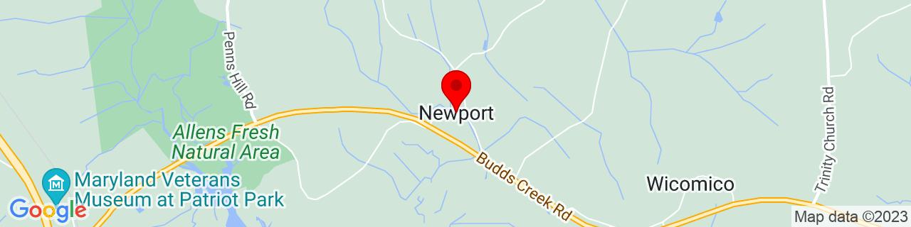 Google Map of 38.420158, -76.904915