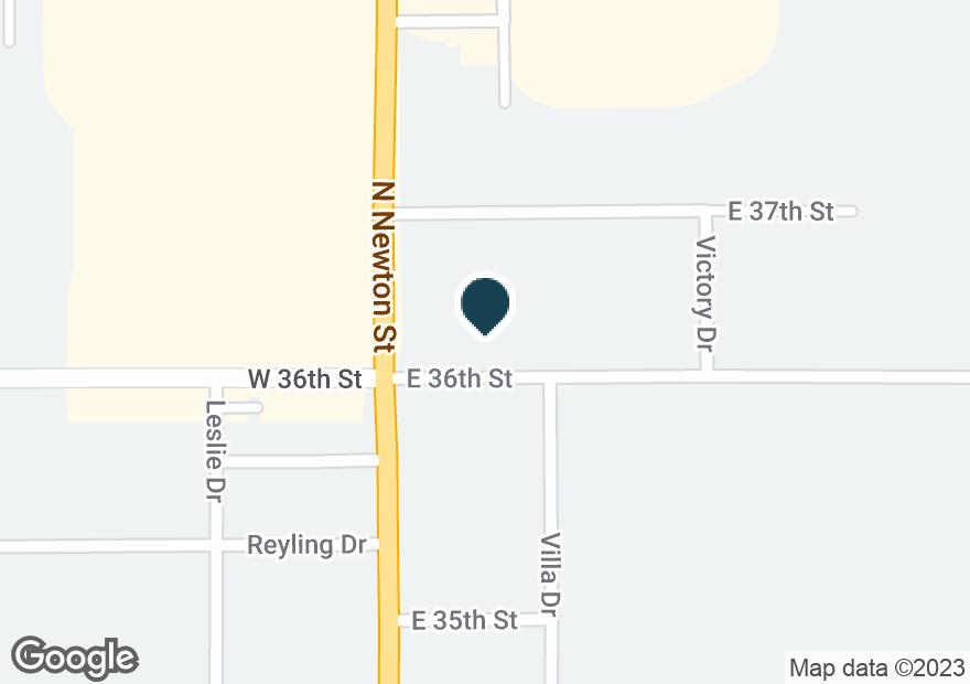 Google Map of3606 N NEWTON ST