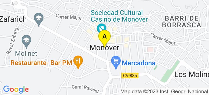 situacion en el mapa de . Direccion: Poetisa Remedios Picó, n2 Bj, 03640 Monóvar/Monòver. Alicante