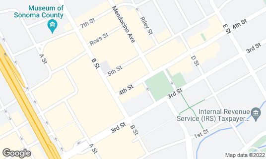 Map of Stout Brothers Irish Pub & Restaurant at 527 4th St Santa Rosa, CA