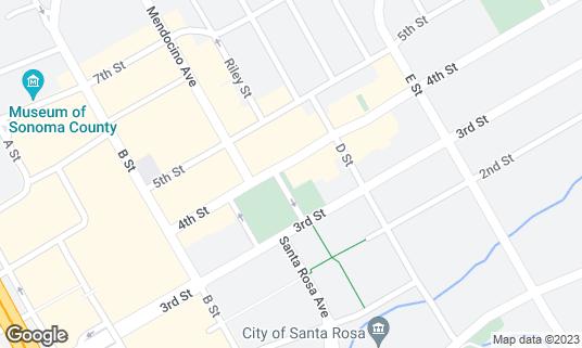 Map of Beer Baron Bar & Kitchen at 614 4th St Santa Rosa, CA