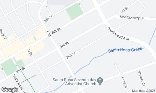 Map of Ca'Bianca Ristorante Italiano at 835 2nd St Santa Rosa, CA