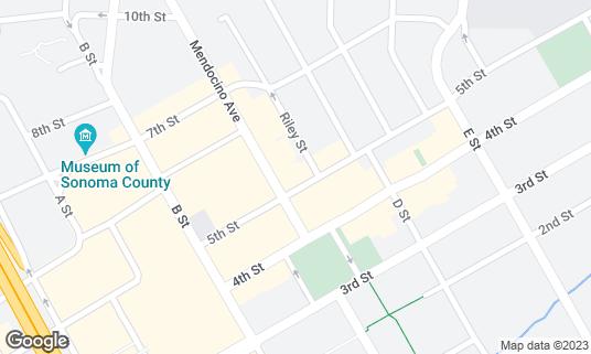 Map of Ausiello's 5th Street Grill at 609 5th St Santa Rosa, CA