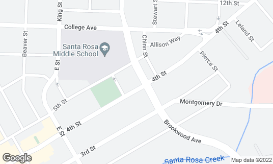 Map of NY Pie at 65 Brookwood Ave Ste 1 & 2 Santa Rosa, CA