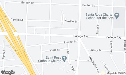 Map of 440 Club at 434 College Ave Santa Rosa, CA
