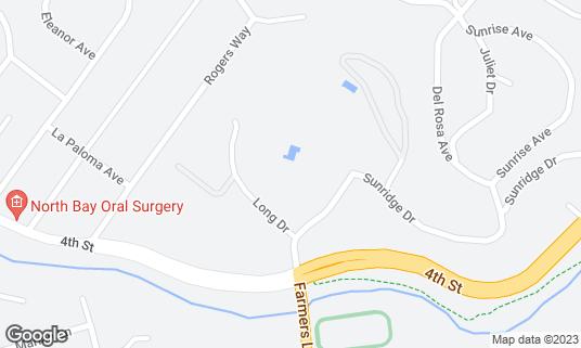 Map of Flamingo Conference Resort & Spa at 2777 4th St Santa Rosa, CA