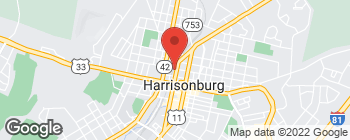 Map of 167 N Liberty St in Harrisonburg