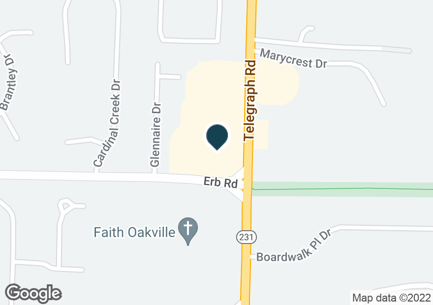 Google Map of6071 TELEGRAPH RD