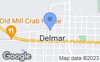 Map of Delmar, DE