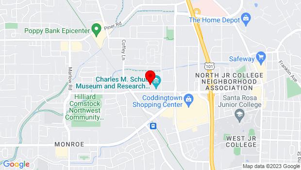 Google Map of 1835 W. Steele Lane, Santa Rosa, CA 95403