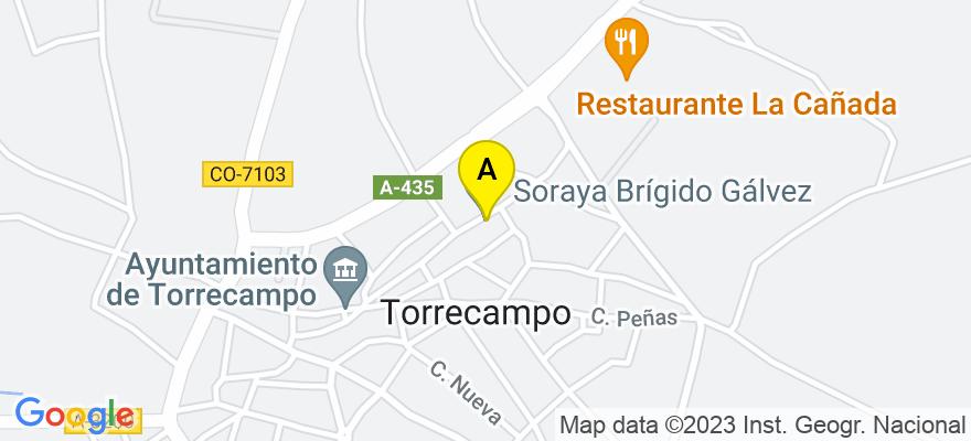 situacion en el mapa de . Direccion: Santiago,44, 14410 Torrecampo. Córdoba