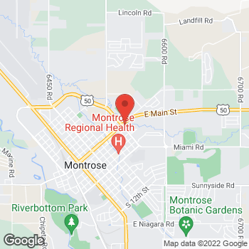 Map of Taco John's at 1300 E Main St, Montrose, CO 81401
