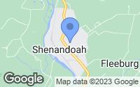 Map of Shenandoah, VA