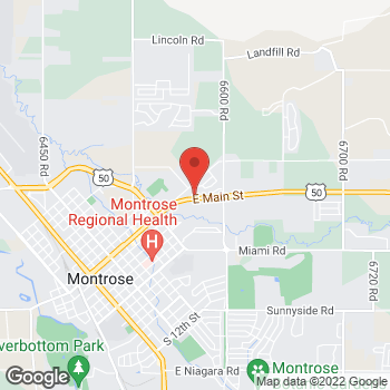 Map of Arby's at 1701 E Main St, Montrose, CO 81401