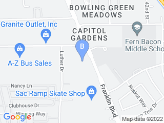 Map of Southgate Veterinary Hospital Dog Boarding options in Sacramento | Boarding