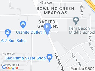 Map of Southgate Pet Boarding and Resort Dog Boarding options in Sacramento | Boarding
