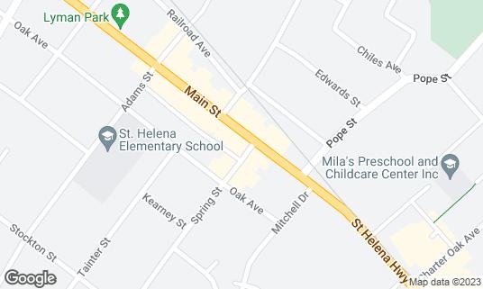 Map of Ana's Cantina at 1205 Main St St. Helena, CA