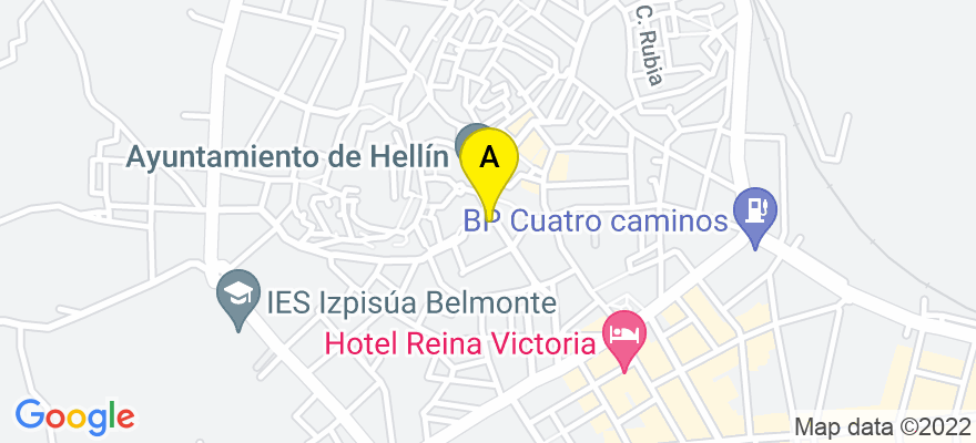situacion en el mapa de . Direccion: c/ Sol nº 2, 1º, 02400 Hellín. Albacete