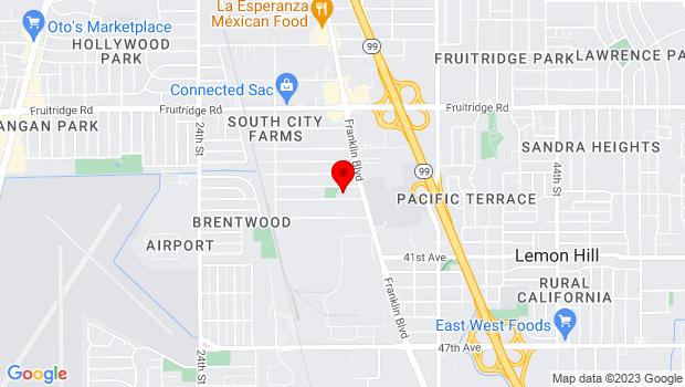 Google Map of 3301 37th Ave., Sacramento, CA 95824