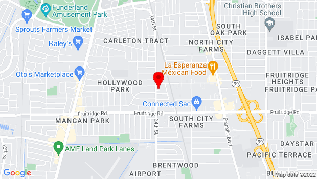 Google Map of 5191 24th Street, Sacramento, CA 95822