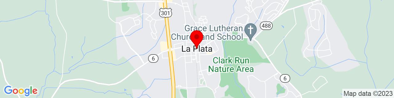 Google Map of 38.5292877, -76.97525139999999