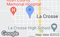 Map of La Crosse, KS