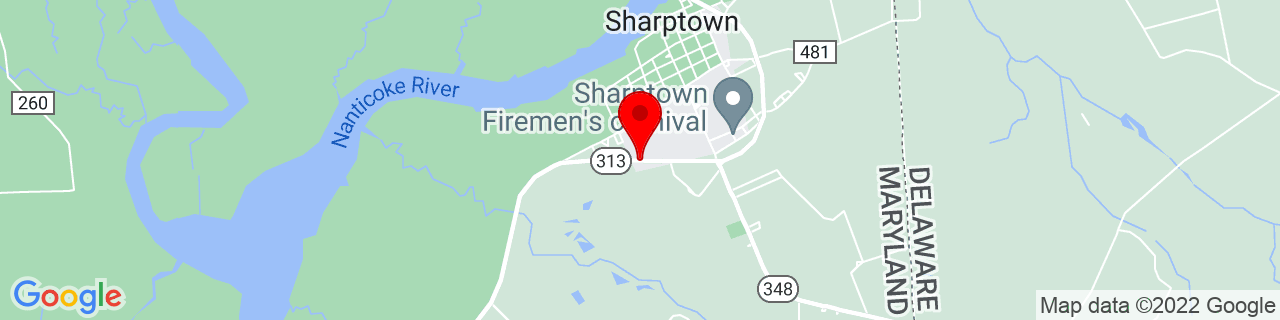 Google Map of 38.5332125, -75.7220695