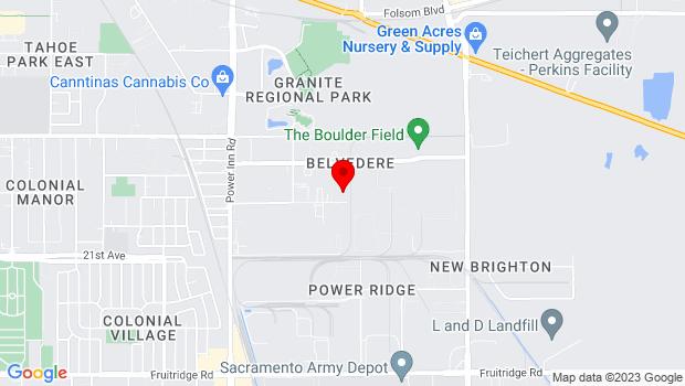 Google Map of 8269 Alpine Ave., Sacramento, CA 95826