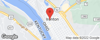 Map of 407 Center St in Ironton