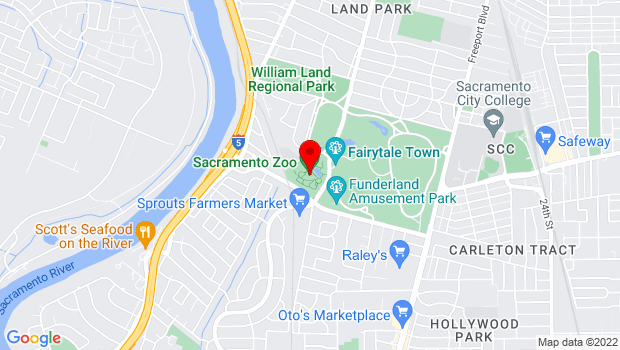 Google Map of 3930 West Land Park Drive, Sacramento, CA 95822