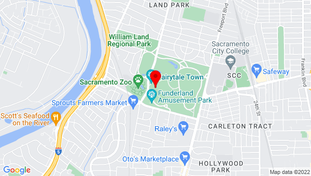 Google Map of 3901 Land Park Drive, Sacramento, CA 95822