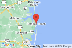 Map of Bethany Beach