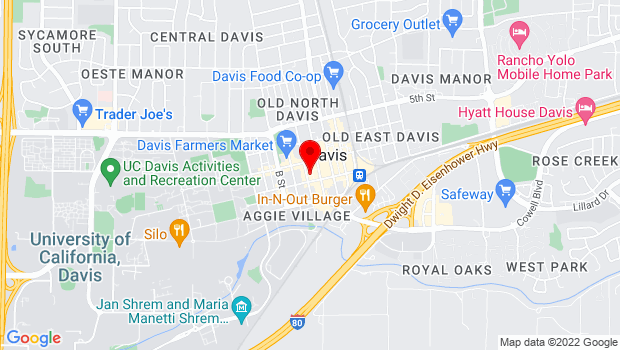 Google Map of 212 D Street, Davis, CA 95616