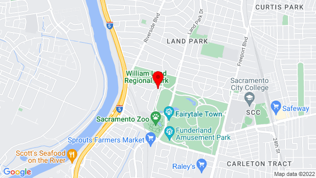 Google Map of 3800 Landpark Drive, Sacramento, CA 95822
