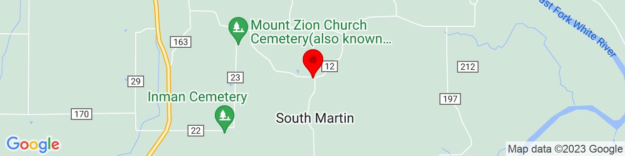 Google Map of 38.5444966, -86.8741658