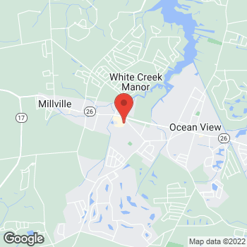 Map of Hair Cuttery at 38069 Town Center Drive, Millville, DE 19967