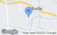Map of Millville, DE