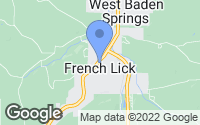 Map of French Lick, IN