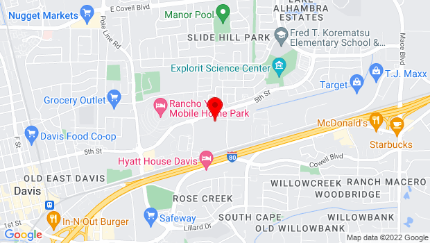 Google Map of 2720 Del Rio Place, Davis, CA 95618