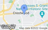 Map of Crestwood, MO