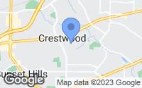Map of Crestwood, MO