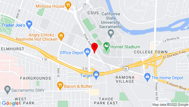 Google Map of 1210 66th St., Sacramento, CA 95819