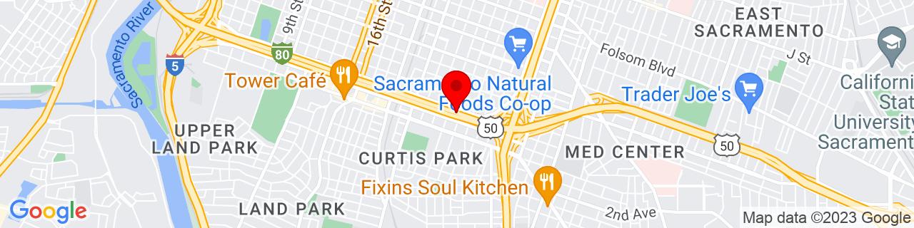 Google Map of 38.5603033, -121.4800196